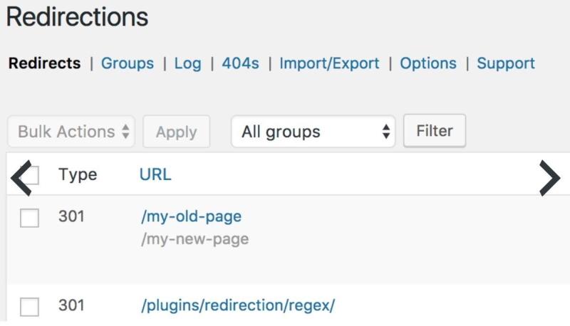 Настройка 301 редиректа в WordPress