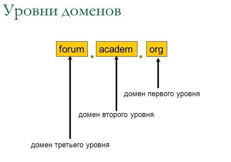 Уровни доменов